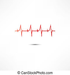 pictogram, cardiogram