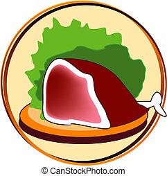pictogram, -, carne