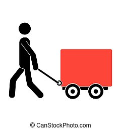 pictogram carrying Freight car icon