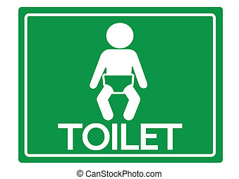 Pictogram child toilet  icons