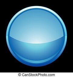 pictogram, chroom, blauwe , cirkel