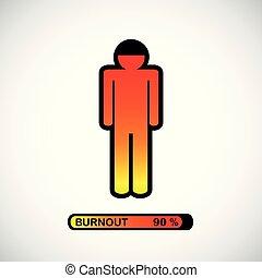 pictogram concept of stress, burnout, headache, depression