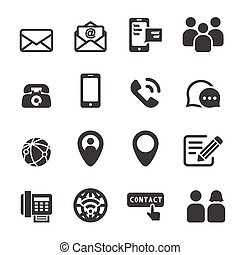 pictogram, contact