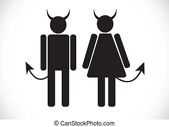 Pictogram Devil Icon Symbol Sign