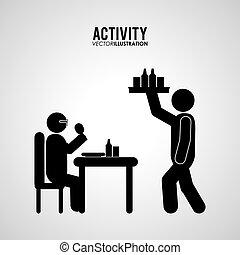 pictogram, doen, activiteit, ontwerp