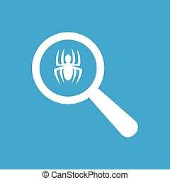 pictogram, eenvoudig, examen, spin