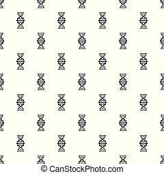 pictogram, eenvoudig, stijl, dna, black