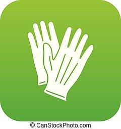 pictogram, eenvoudig, stijl, handschoen