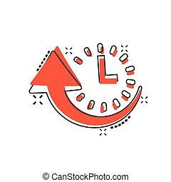 pictogram, effect., komisch, spotprent, downtime, vrijstaand...