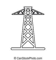 pictogram electrical tower transmission energy power