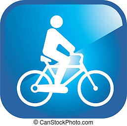 pictogram, fietser