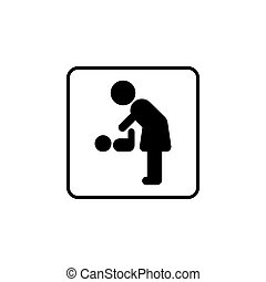 pictogram for mother and baby restroom, for changing diaper