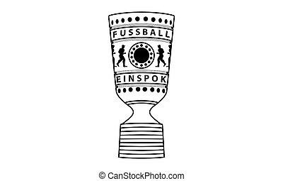 Pictogram - German Cup Trophy - Vektor - DFB Pokal - Icon,...