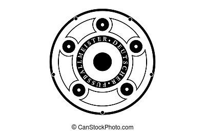 Pictogram - German Soccer League Trophy - Piktogramm - Deutscher Fussball Meister - Icon, Symbol, Object