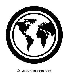 pictogram, globe
