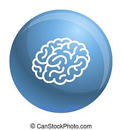 pictogram, hersenen, stijl, schets, menselijk
