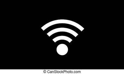 pictogram, het verbinden, om te, wifi, punt