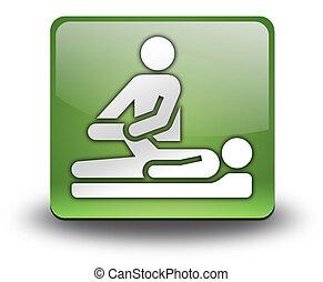 pictogram, knoop, pictogram, lichamelijke behandeling