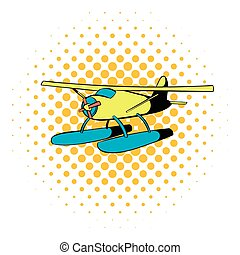 pictogram, komieken, hydroplane, stijl