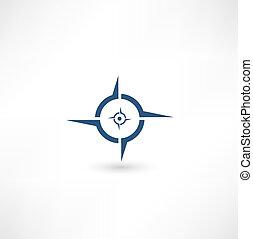 pictogram, kompas