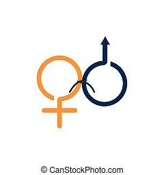pictogram, mannelijke , huwelijk, vrouwlijk, tekens & borden