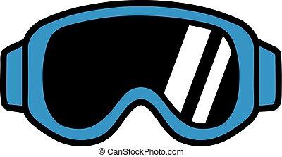 pictogram, mirada sorprendida, esquí