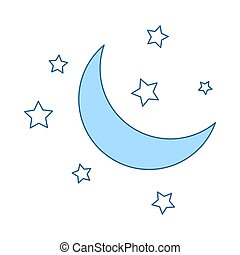 pictogram, nacht