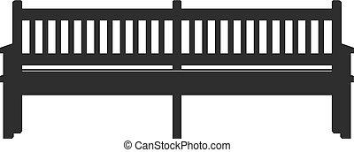 pictogram, parkeer bank