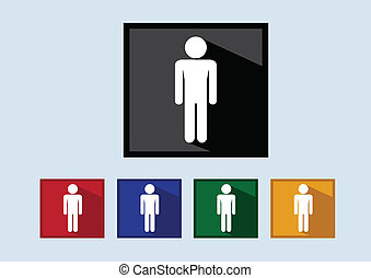 Pictogram People icons for web mobile applications and people signs