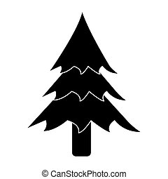 pictogram pine tree forest camping icon