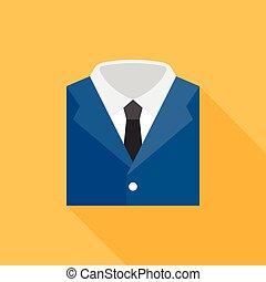 pictogram, plat, ontwerp, garb