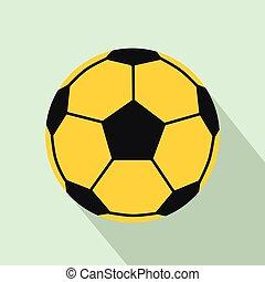 pictogram, plat, stijl, voetbal