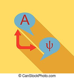 pictogram, plat, vertaling, stijl