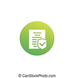 pictogram, polis, verzekeringsdekking