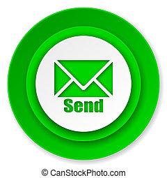 pictogram, post, zenden, meldingsbord