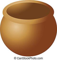 pictogram, pot