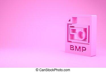 pictogram, roze, illustratie, knoop, bmp, downloaden, render, document., 3d, vrijstaand, minimalism, achtergrond., symbool., bestand, concept.