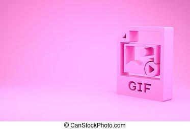 pictogram, roze, illustratie, render, knoop, downloaden, document., 3d, vrijstaand, minimalism, achtergrond., symbool., bestand, concept.