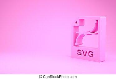 pictogram, roze, illustratie, render, knoop, downloaden, document., 3d, vrijstaand, minimalism, achtergrond., symbool., bestand, concept., svg