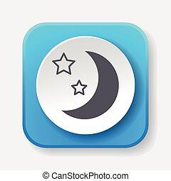 pictogram, ruimte, maan