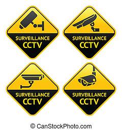 pictogram, seguridad cámara del juez, vigilancia video