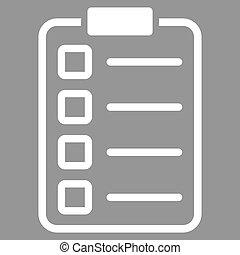 pictogram, set, examen, zakelijk, bicolor