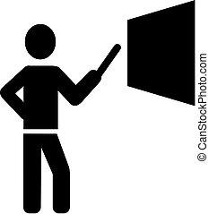 pictogram, simbolo, insegnante