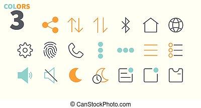 pictogram, simple, 24x24, stroke., listo, perfecto, tela,...