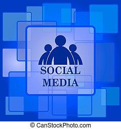 pictogram, sociaal, media