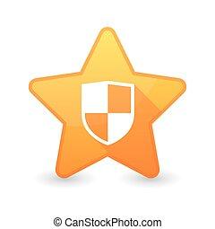 pictogram, ster, schild, vrijstaand
