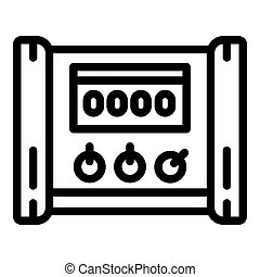 pictogram, stijl, microcontroller, elektrisch, schets