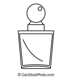 pictogram, stijl, mode, schets, parfum