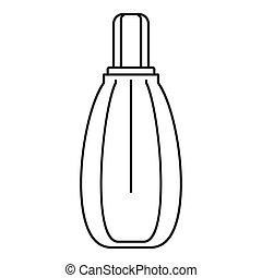pictogram, stijl, schets, parfum