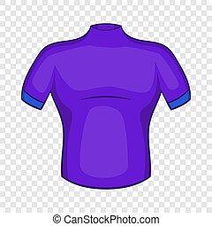 pictogram, stijl, verlopd cyclischd hemd, spotprent